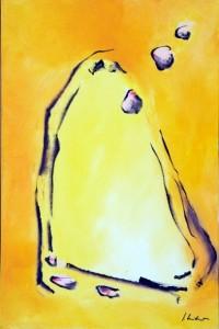 Gelbe Öffnung